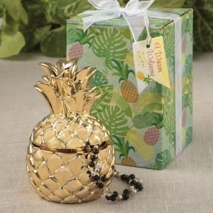 Pineapple Themed Gold Pineapple Curio Box image