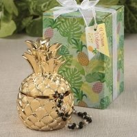 Pineapple Themed Gold Pineapple Curio Box