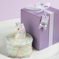 Delightful Unicorn Design Jewelry Box Favors