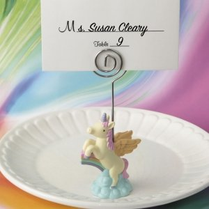 On Trend Unicorn Place Card Holder Favors image
