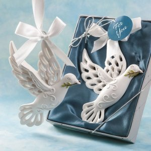 Dove of Peace Hanging Ornament Favor image