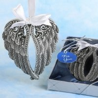 Silver Angel Wings Pewter Finish Ornament Favor