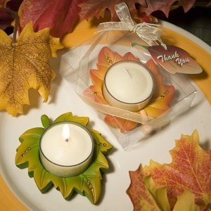 Fall Leaf Candle Party Favors image