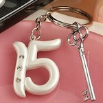 Quince Party Favor Keychains (Sweet 15 Birthday)