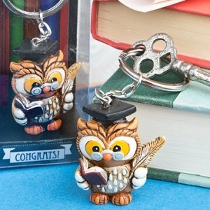 Wise Graduation Owl Key Ring Favors image
