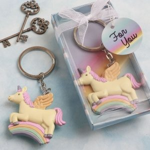 Delightful Unicorn Design Key Chain Favors image