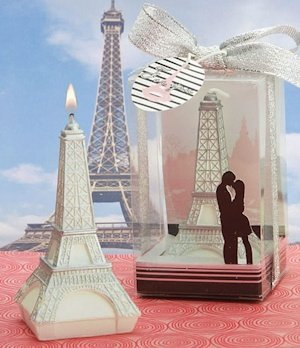 'Love in Paris' Eiffel Tower Candle Wedding Favors image