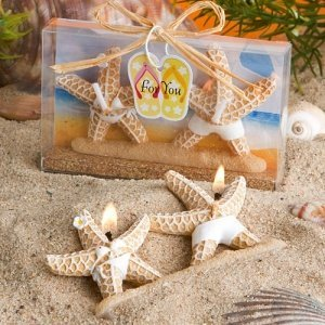 Whimsical Starfish Candles in Bathing Suits image