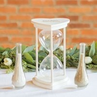 Personalized Unity Sand Ceremony Hourglass Set