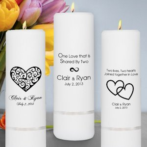 Romance Unity Wedding Candles (Set or Pillar) image