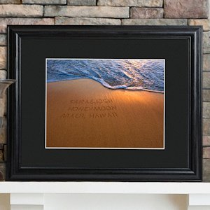 Sparkling Sands Personalized Wedding Print image