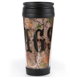 Personalized Camo Coffee Tumbler image