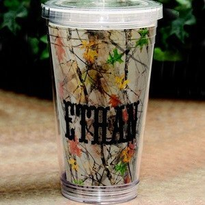 Personalized Camo Water Tumbler image