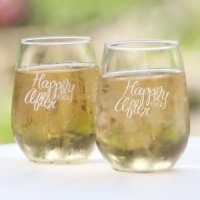 Happily Ever After Stemless Wine Glass (Set of 2)