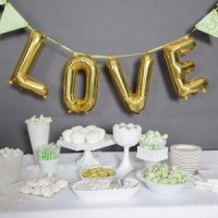 Love Balloon Kit - Silver or Gold (2 Sizes)