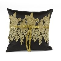 Golden Vintage Ring Pillow