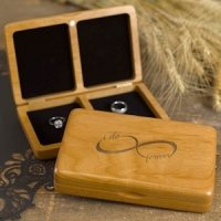 Infinity Wooden Ring Box