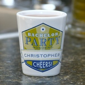 Cheers! Personalized Bachelor Party Shot Glasses image