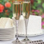 Enchanting Crystal Wedding Toasting Flutes