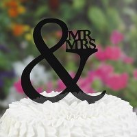 Mr & Mrs Cake Pick Topper