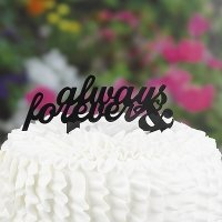 Always & Forever Cake Pick Topper