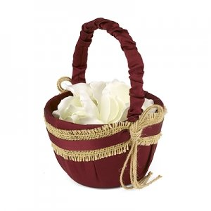 Country Love Flower Girl Basket image