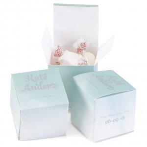 Personalized Ombre Bridal Favor Boxes (Set of 50) image