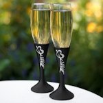 Love Chalk Rustic Toasting Flutes