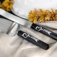 Love Chalk Cake Serving Set