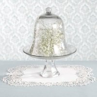 White Shimmer Laser Cut Paper Place Mats (Set of 12)