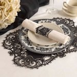 Black Laser Cut Paper Place Mats (Set of 12)