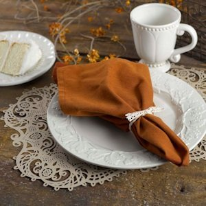 Kraft Laser Cut Paper Place Mats (Set of 12) image