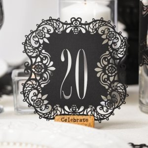 Black Laser Cut Table Number Cards image