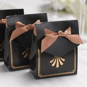 Art Deco Tent Favor Boxes (Gold or Silver) image