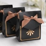Art Deco Tent Favor Boxes (Gold or Silver)