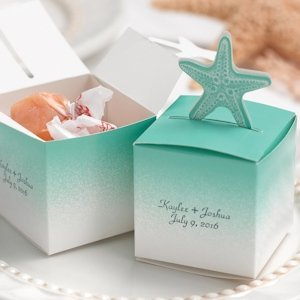 Starfish Beach Wedding Favor Boxes (Set of 25) image