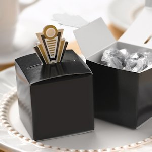 Art Deco Pop-Up Favor Boxes (Gold or Silver) image