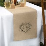 True Love Burlap Table Runner for Weddings