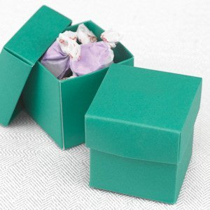 Mix and Match Emerald Green Favor Boxes (Set of 25) image