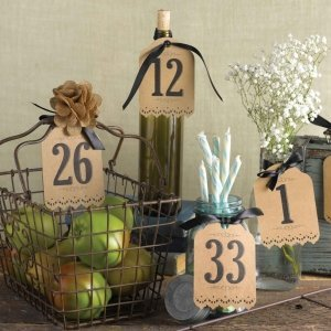 Vintage Kraft Table Number Tags (1-40) image