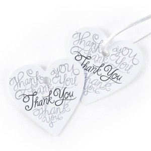 Heartfelt Thank You Favor Tag Cards (Set of 25) image