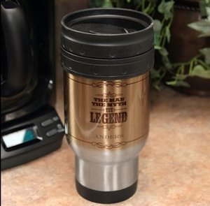 Personalized 'The Legend' Stainless Steel Travel Mug image