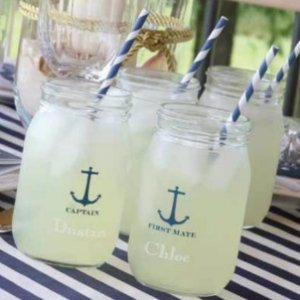Nautical Drinking Jars (Set of 2) image