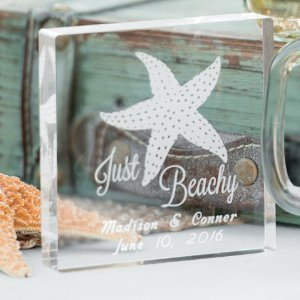 Personalized Just Beachy Wedding Cake Topper image