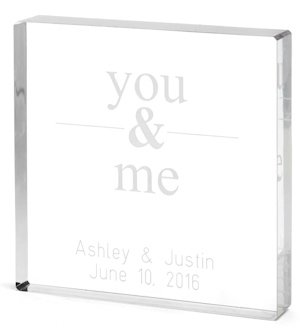 You & Me Personalized Acrylic Wedding Cake Topper image