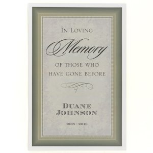 Personalized In Loving Memory Poster image