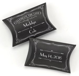 Chalkboard Style Pillow Boxes (Set of 25) image