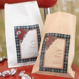 Personalized Gingham Treat Bags (Set of 50 - 2 Colors) image