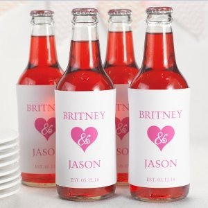 Personalized Hearts Galore Wine Labels (Set of 50) image