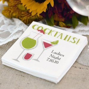 Cocktails! Personalized Beverage Napkins (Pack of 100) image